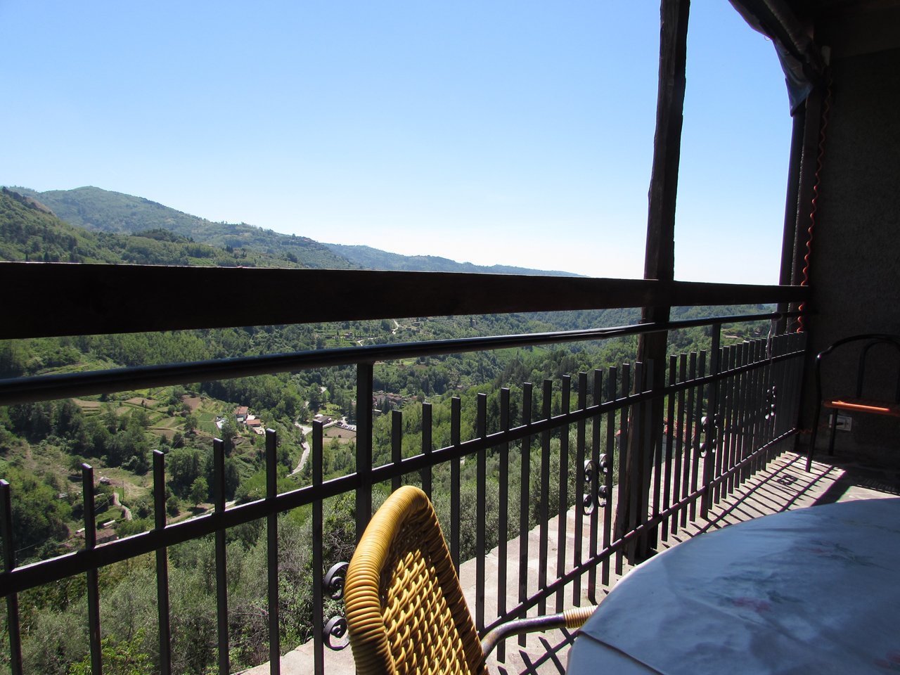 Castelvecchio view from terrace  Photo by Aaron Crossley