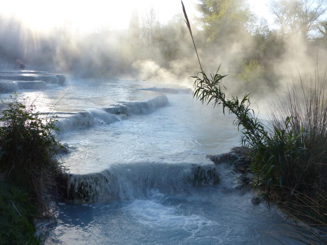 A cool morning at the spring at Saturnia Photo by Debra Kolkka