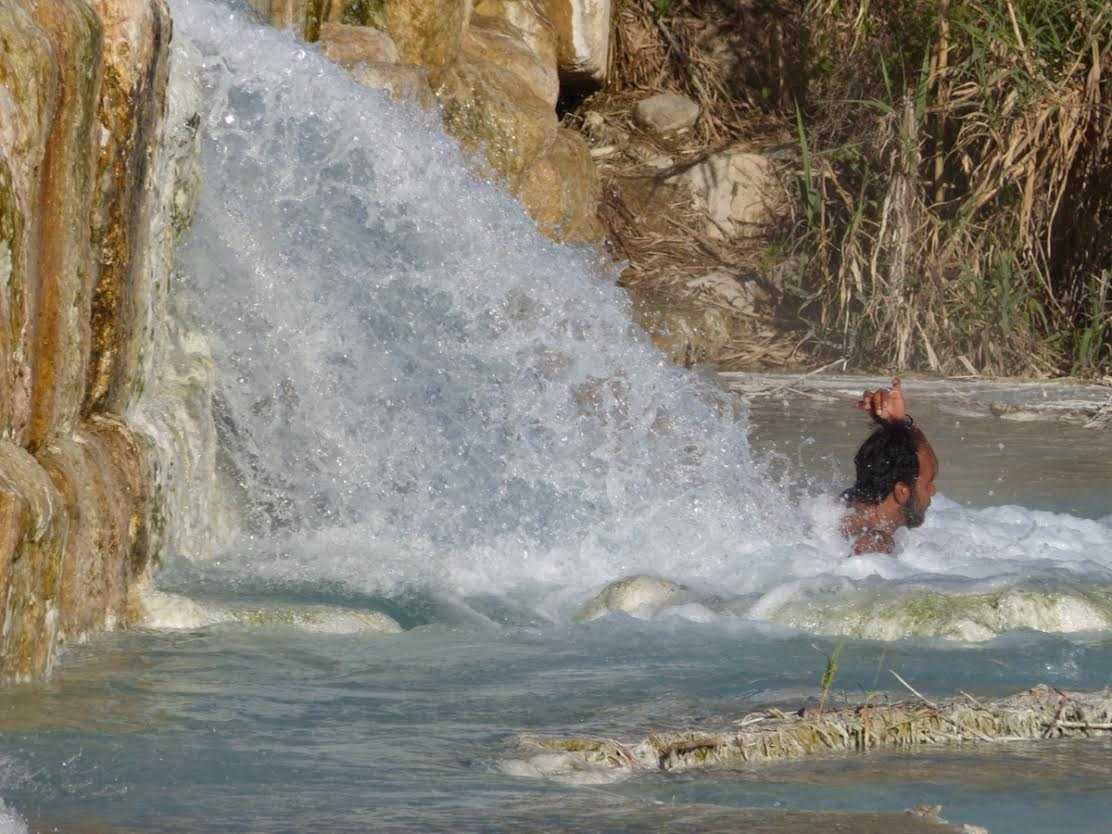 Massage in the spring at Saturnia Phto by Debra Kolkka