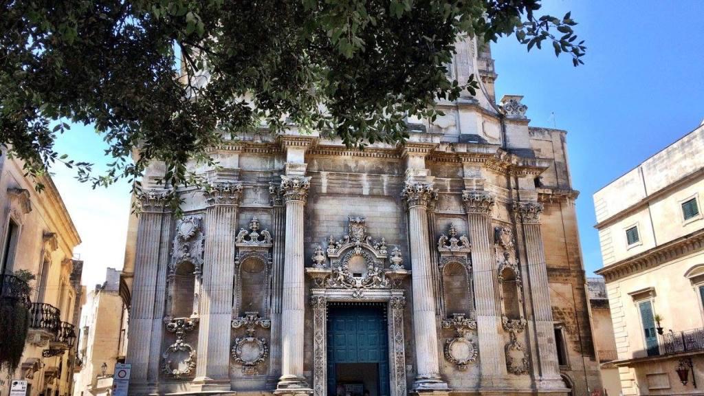 church in the centre of Lecce Photo by https://www.instagram.com/buona.forchetta/