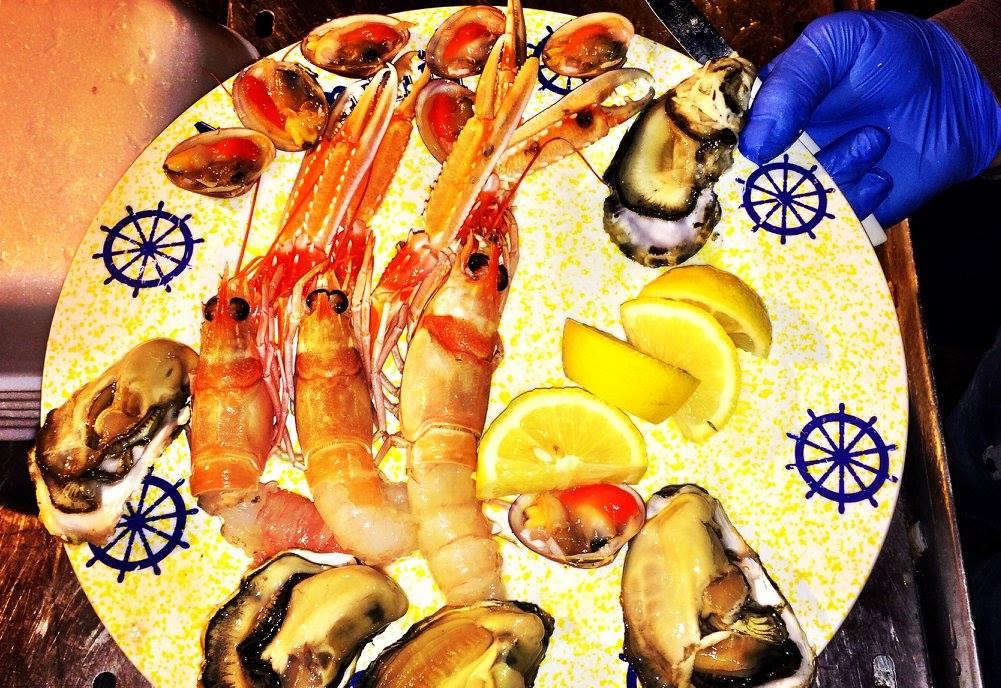 Seafood in Gallipoli port Photo by https://www.instagram.com/buona.forchetta/
