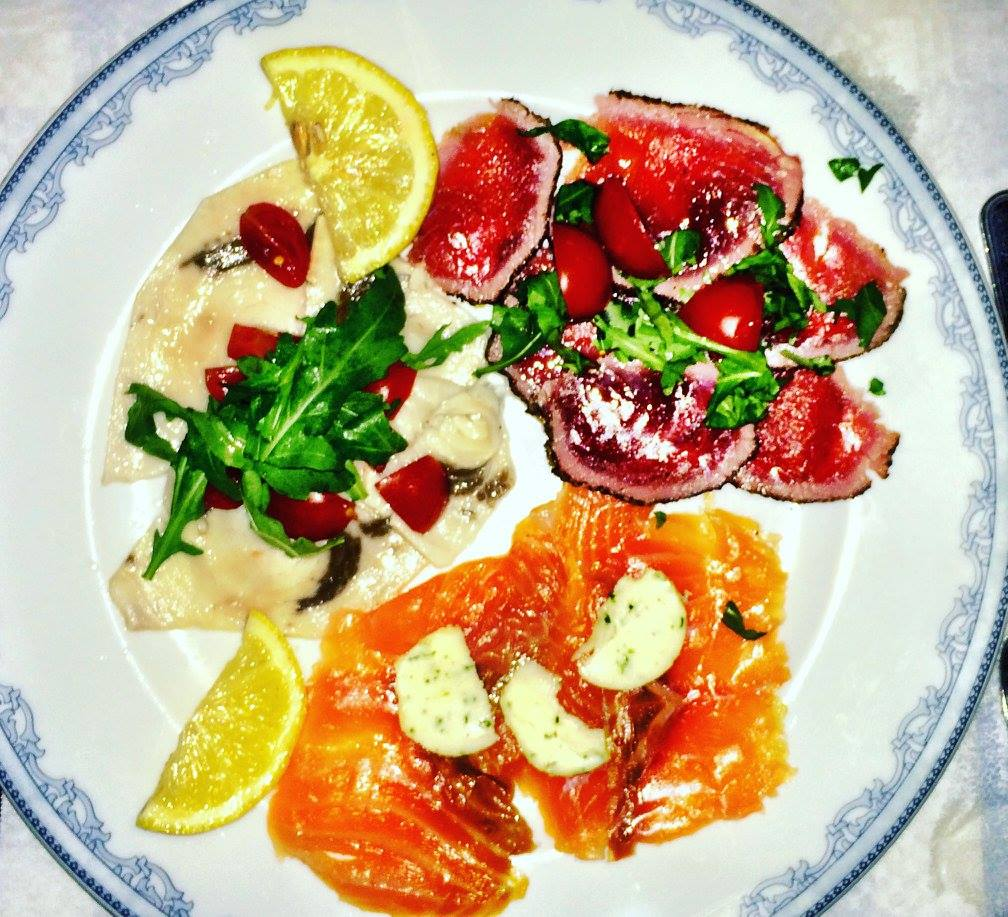 Tris di carpacci marinati Photo by https://www.instagram.com/buona.forchetta/