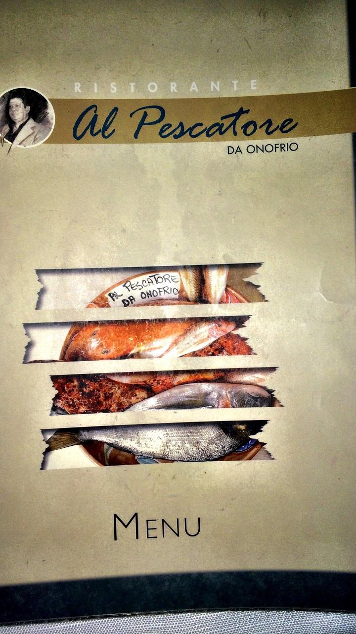 Da Onofrio menu Photo by https://www.instagram.com/buona.forchetta/
