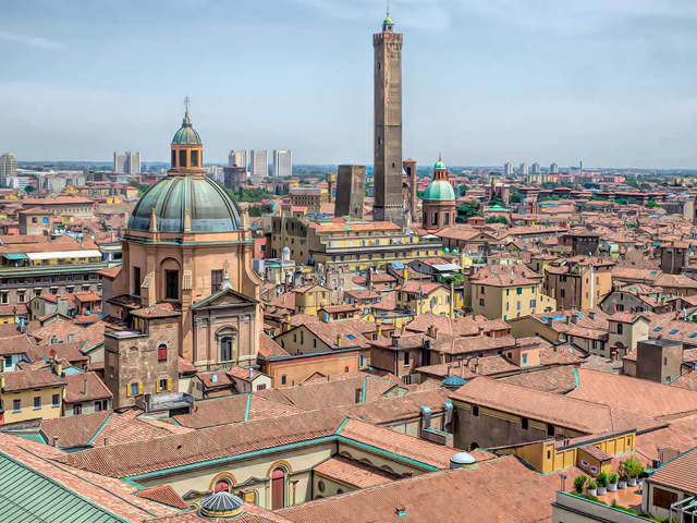 Barbara Weibel Italy-Bologna-from-Basilica-di-San-Petronio-tower