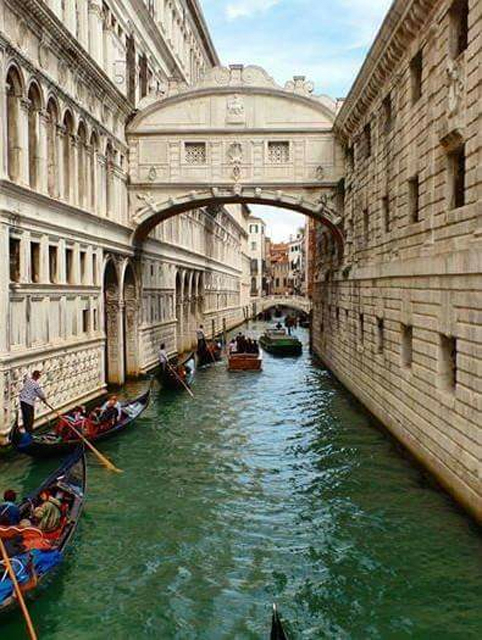 Bridge of Sighs in Venice by Julie Busa