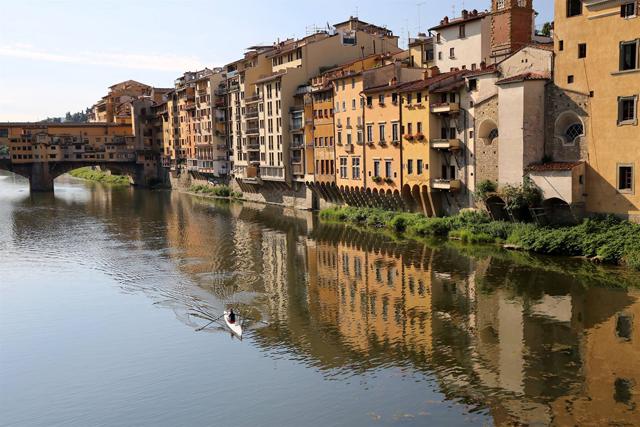 ponte vecchio on the arno by Annette White